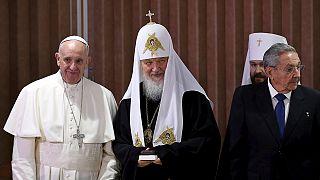 Papa Francisco e patriarca Kiril realizam encontro histórico em Cuba