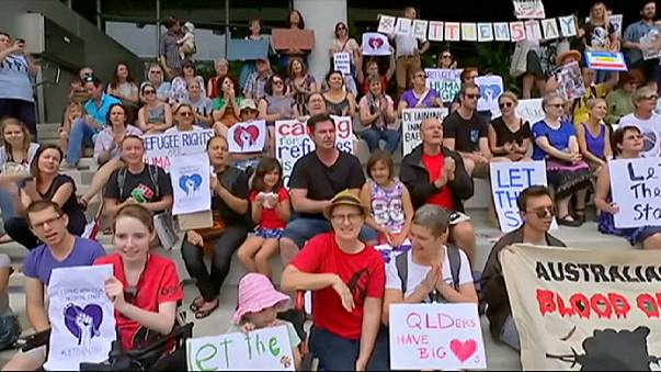 Threat of deportation of baby girl to offshore migrant centre sparks Brisbane protest