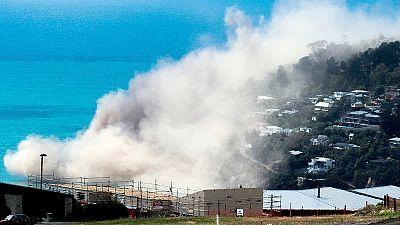 Nuova Zelanda, crollo di una scogliera nell'oceano
