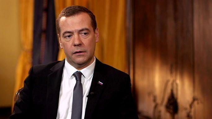 رئيس الوزراء الروسي  ديمتري ميدفيديف يتحدث ليورنيوز عن الأزمة الاقتصادية وسوريا وأوكرانيا