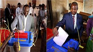 CAR: Presidential candidates vote in key election