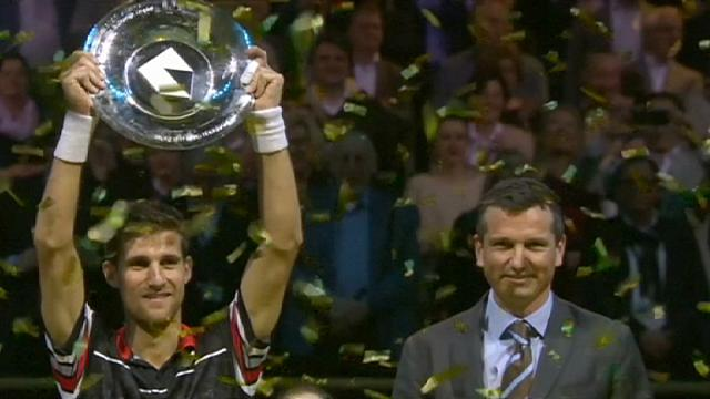 Tennis: Klizan beats Monfils to win Rotterdam Open