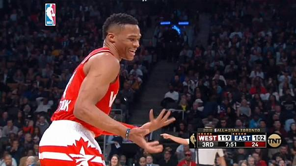 Westbrook and Bryant shine as West beat East in All star game
