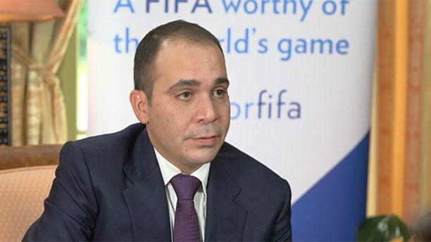 Prince Ali bin al Hussein, candidat à la présidence de la FIFA.