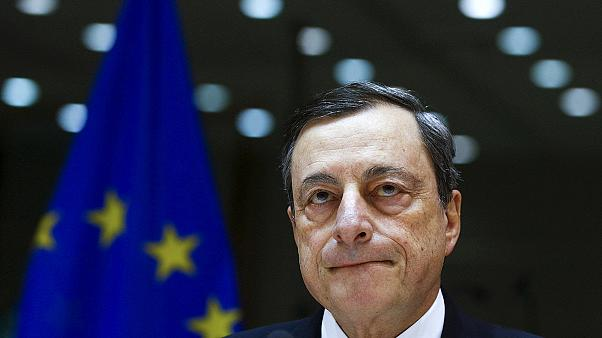European Central Bank's Draghi bullish on banks and stimulus