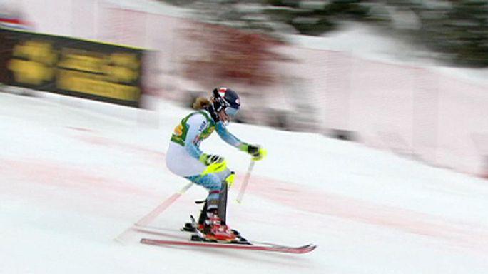 الأمريكية شيفرين تفوز بالتعرج في كرانس مونتانا بسويسرا