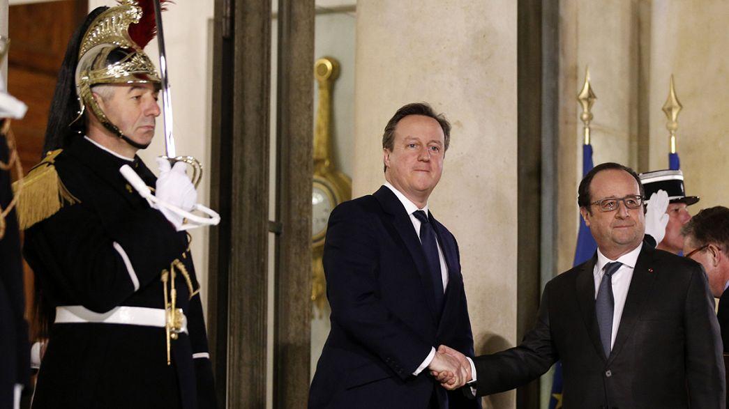 """Cameron de visita surpresa a Paris três dias antes da cimeira sobre o """"Brexit"""""""