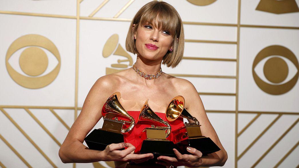 Taylor Swift et Kendrick Lamar couronnés aux Grammys