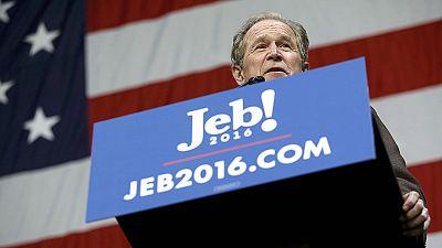 George Bush al rescate de su hermano Jeb