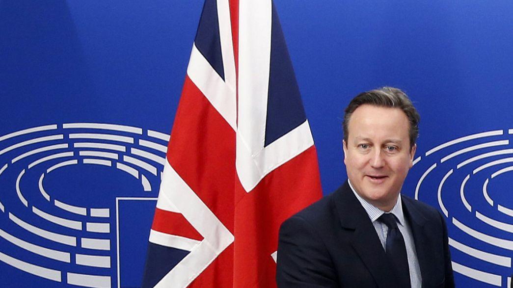 Cameron busca apoyos en el Parlamento Europeo