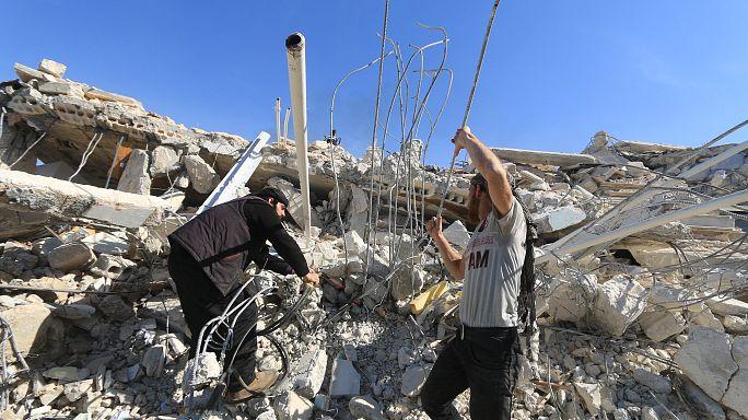 Россия заявляет, что не причастна к бомбардировкам мирных жителей в Сирии