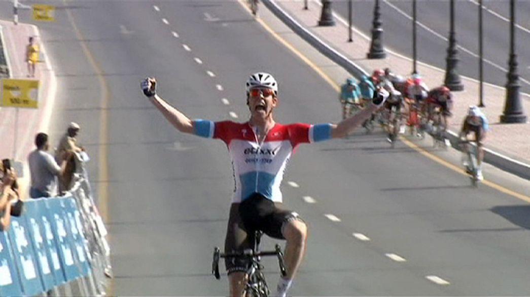 Bob Jungels gana la primera etapa del Tour de Omán