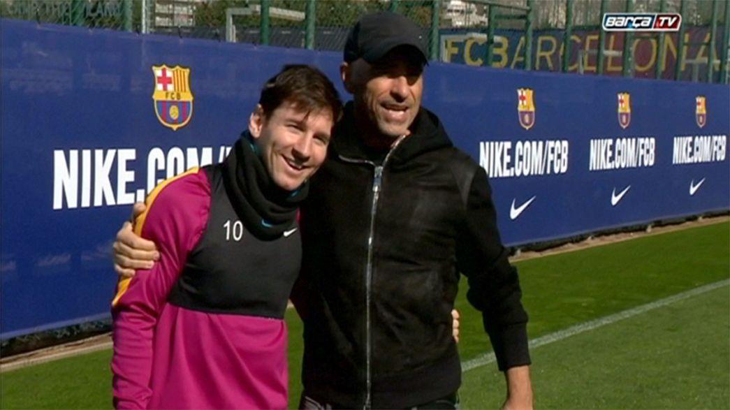 Eros Ramazzotti ébahi par Lionel Messi