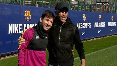 Lionel Messi zaubert mit Eros Ramazzotti
