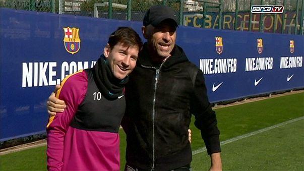 Ramazzotti rendido à técnica de Messi, em golo impossível
