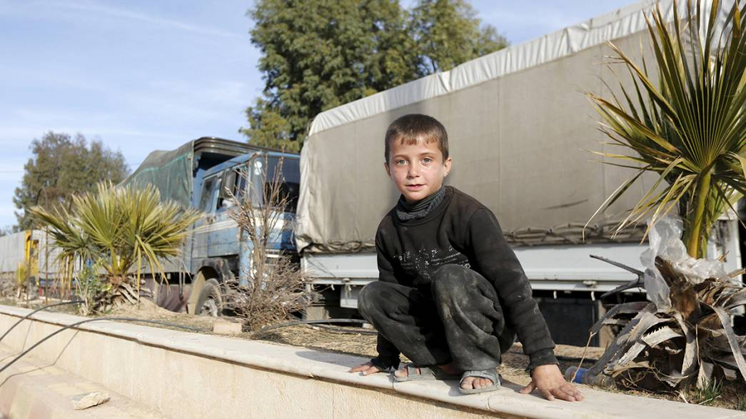 First big aid shipment delivered in Syria
