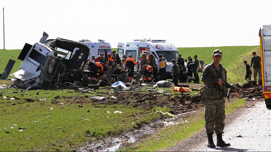 Turkish army says six officers killed by bomb near Diyarbakir