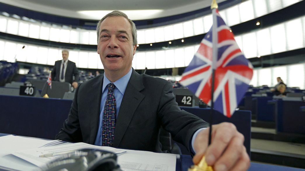 """Farage: """"Espero muito teatro na cimeira europeia que arrancou em Bruxelas"""""""