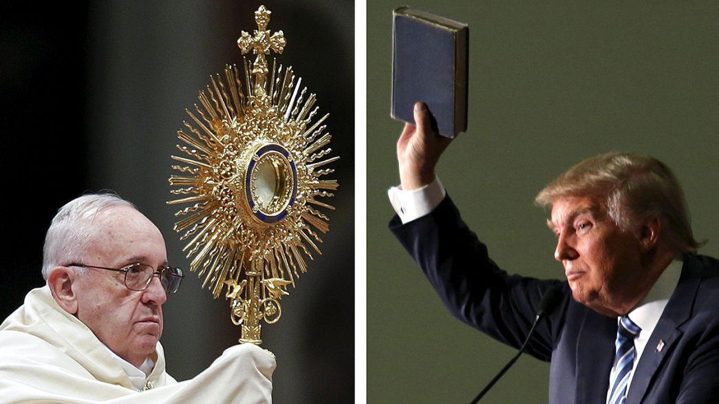 """Il Papa attacca Trump: """"chi vuole costruire muri non è cristiano"""""""