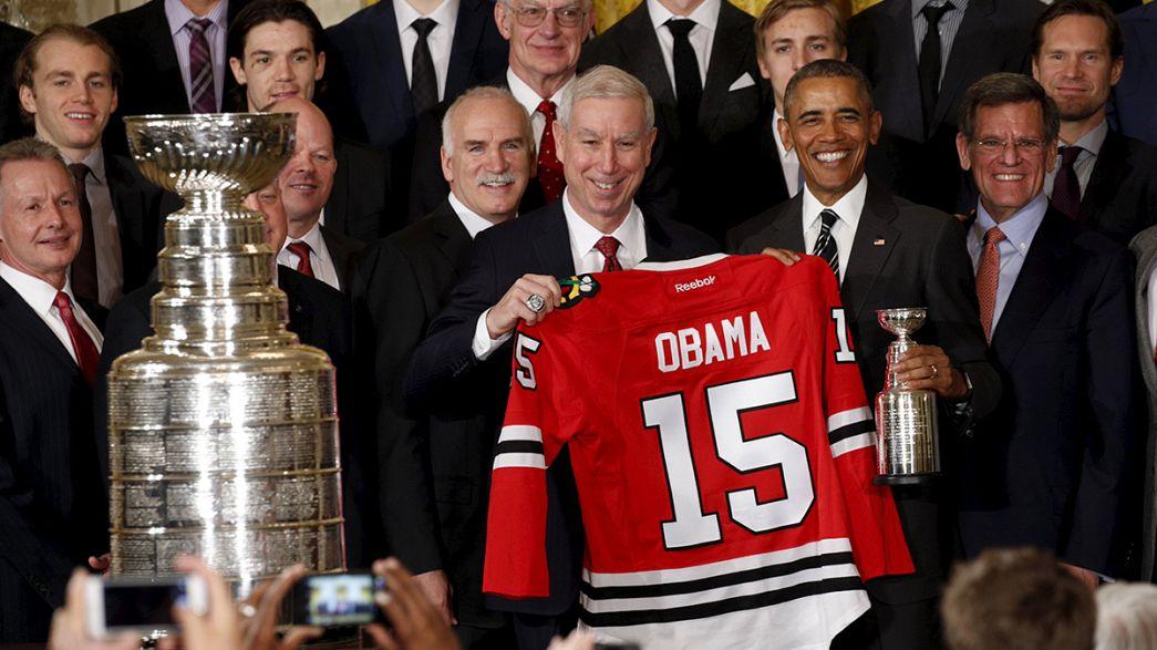 Homenagem de Obama aos Chicago Blackhawks