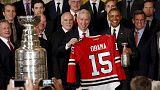 US-Präsident Barack Obama empfängt Chicago Blackhawks