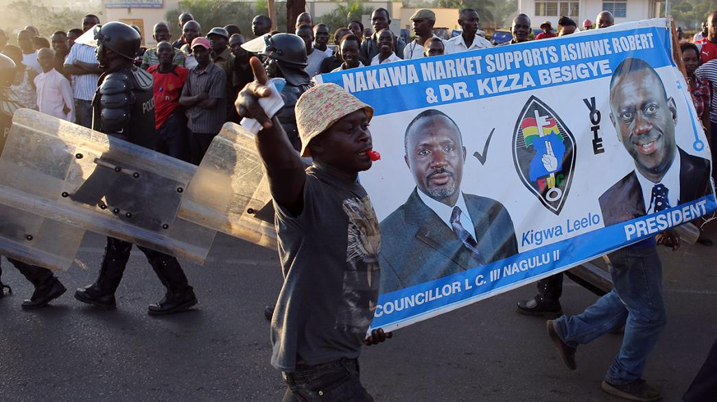 Opposition leader detained on Uganda election day