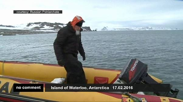 Le partiarche orthodoxe russe Kirill en Antarctique