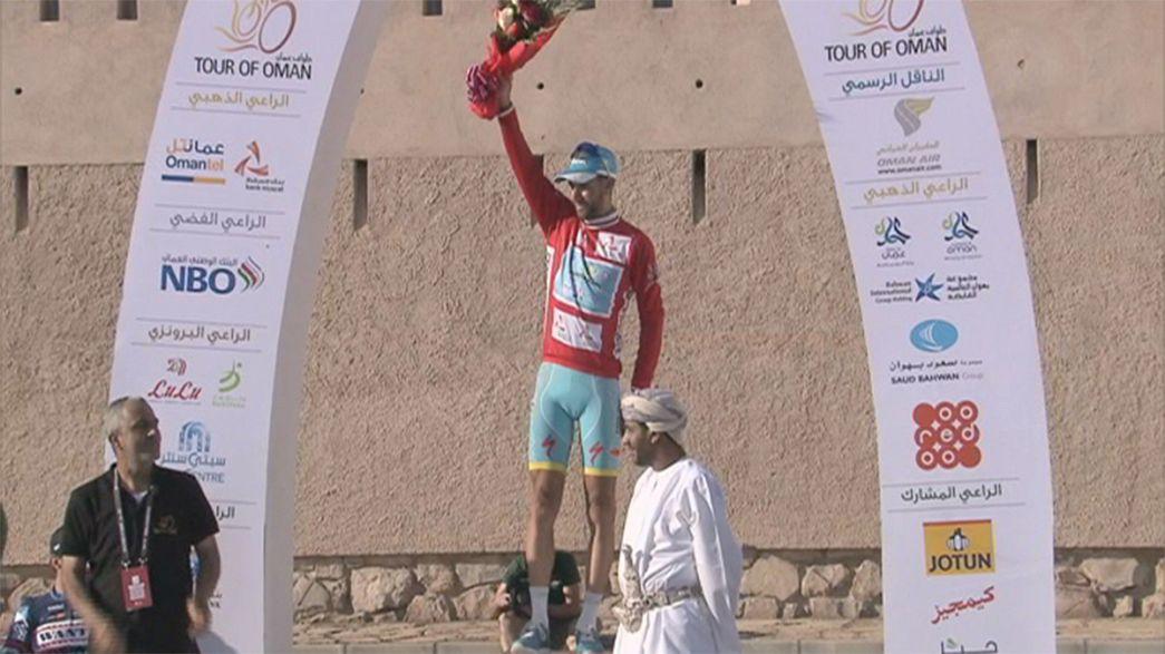 Vincenzo Nibali gana la etapa reina del Tour de Omán y se coloca líder