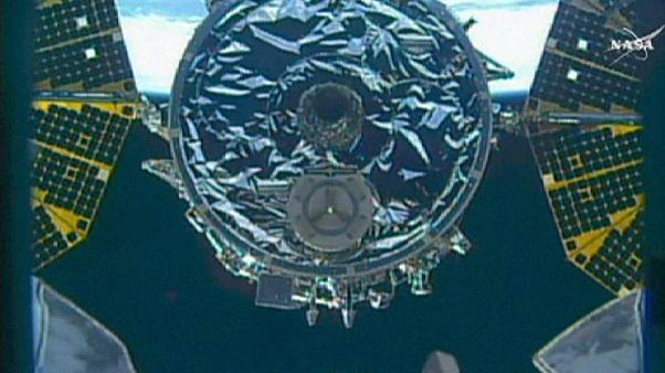 La nave de carga Cygnus cumple su última misión