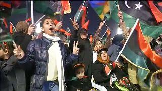 Des Libyens célèbrent les cinq ans de la révolution contre le dictateur Kadhafi