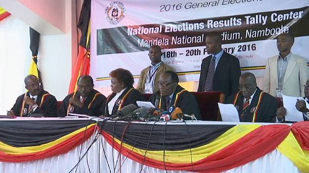 Unrest in Uganda as opposition reject result of presidential election