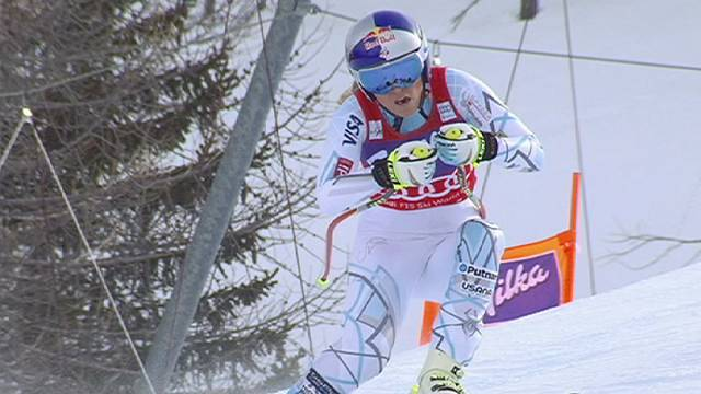 Lindsey Vonn clinches downhill World Cup title in Italy