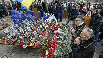 Ucrania rinde homenaje a las víctimas de la revolución del Maidán