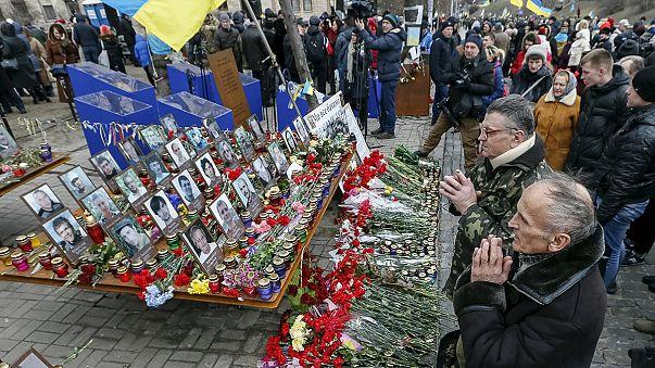 A Majdan áldozataira emlékeztek Kijevben