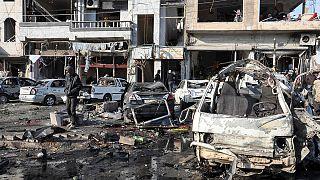 46 قتيلا وعشرات الجرحى في حمص إثر انفجار سيارتين مفخختين