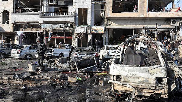 Mindestens 46 Tote bei Doppelanschlag in Syrien