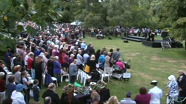 گرامیداشت یاد قربانیان در پنجمین سالگرد زلزله کرایست چرچ نیوزیلند