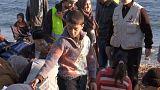 Socorristas y voluntarios en Lesbos
