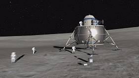 بناء قاعدة على سطح القمر؟
