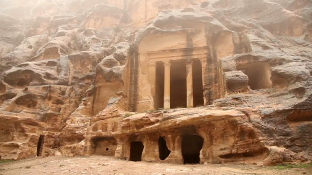 Fuertes lluvias en Petra