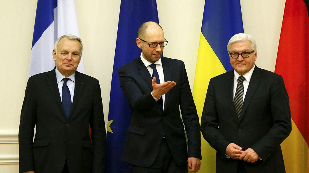 Almanya ve Fransa dışişleri bakanları Kiev'de