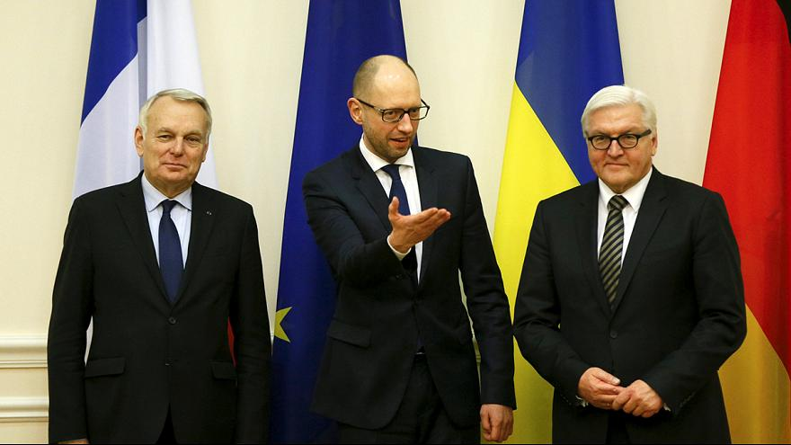 Reforms in spotlight as French and German ministers meet Ukraine's Poroshenko