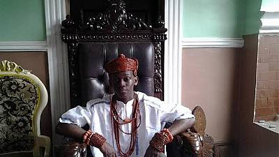 15-year-old boy occupies the throne of a kingdom in Nigeria's Delta State
