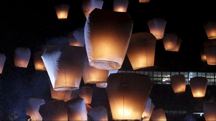 Festival das lanternas assinala Ano Novo na Ásia
