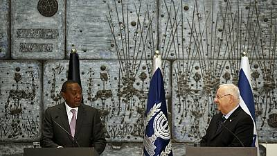 Kenyan president urges greater security ties with Israel