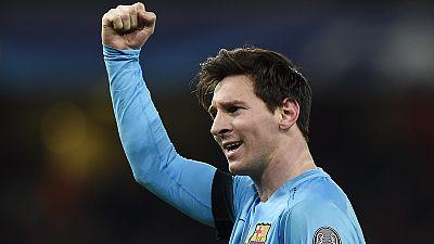 Messi on target twice as Barcelona beat Arsenal