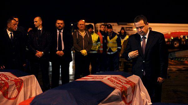 Libya'da ölen Sırp diplomatların cenazeleri ülkelerine gönderildi