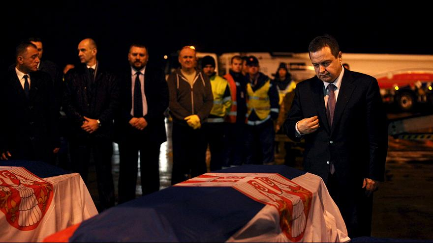 Bodies of killed Serbian hostages returned home from Libya