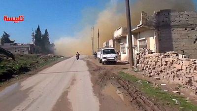 Siria: colpiti civili a Talbiseh