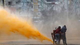 Clashes after protest against military operations and curfews in Turkey